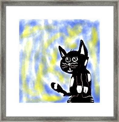 Kitty Kitty Framed Print