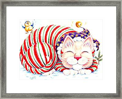 Kitty Klaus Framed Print