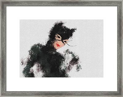 Kitty Framed Print by Miranda Sether