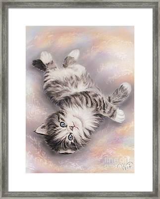Kitty Framed Print by Valentina Vassilieva