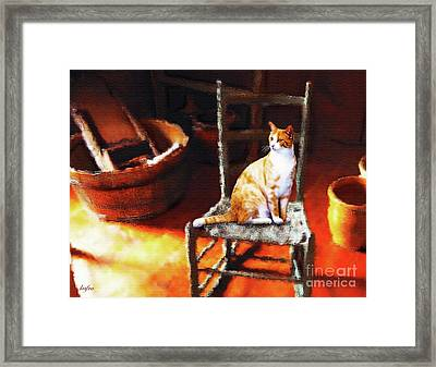 Kitty's Chair Framed Print