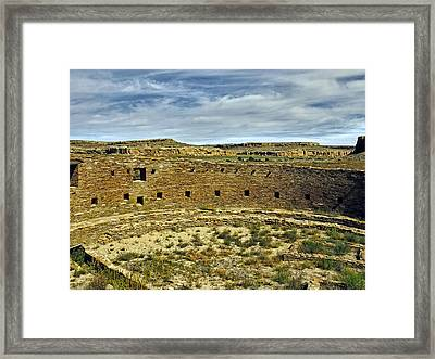 Framed Print featuring the photograph Kiva View Chaco Canyon by Kurt Van Wagner