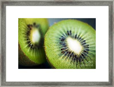 Kiwi Fruit Halves Framed Print
