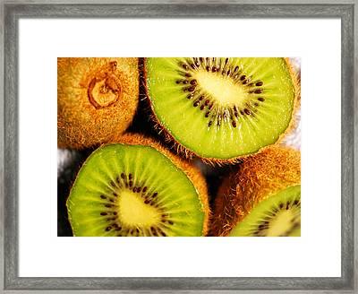 Kiwi Fruit Framed Print by Nancy Mueller