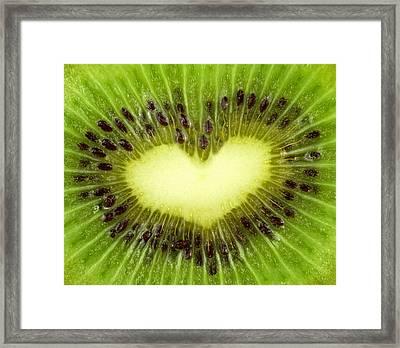 Kiwi Heart Framed Print