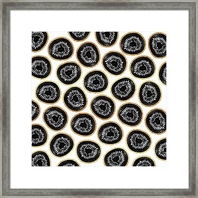 Kiwi Pattern Framed Print