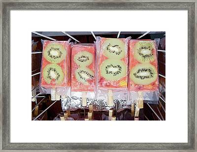 Kiwi Pops Framed Print by Glennis Siverson