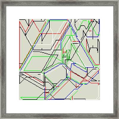 Kjkhcqyz Framed Print by Qq Qqq
