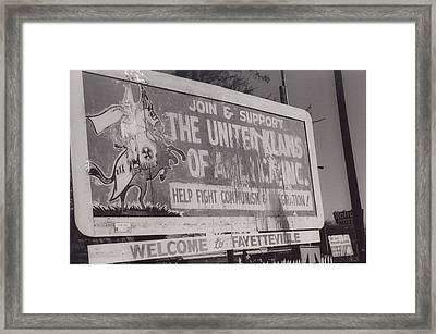 Kkk- 1975 Framed Print by Signs Of The Times Collection