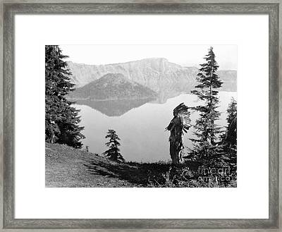 Klamath Chief, C1923 Framed Print
