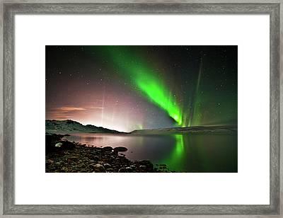 Kleifarvatn Lake Framed Print by Gudjon Otto Bjarnason