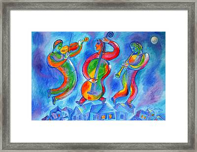 Klezmer On The Roof Framed Print