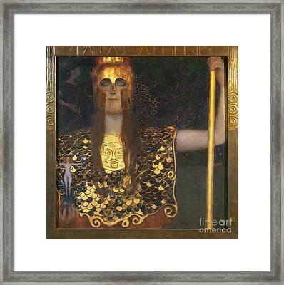 Klimt - Pallas Athena 1898 Framed Print by Granger