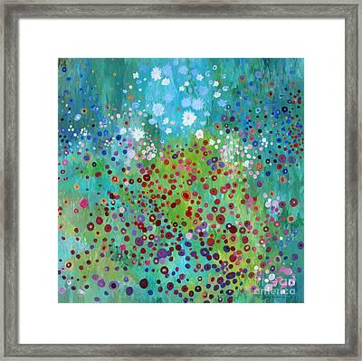 Klimt's Garden Framed Print