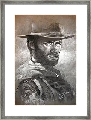 Klint Eastwood Framed Print