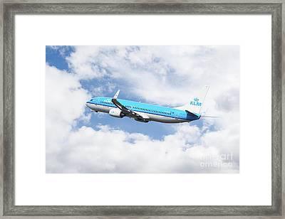 Klm Boeing 737-8k2 Framed Print