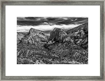 Klob Canyon Bw1 Framed Print by Don Risi