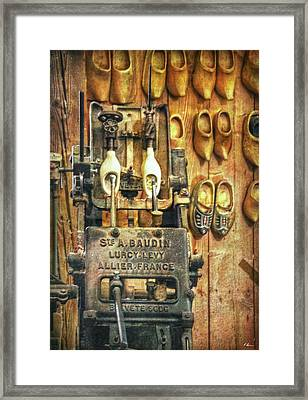 Klompen Production Framed Print by Hanny Heim