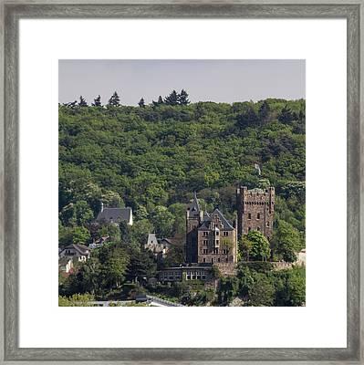 Klopp Castle Bingen Germany Squared Framed Print by Teresa Mucha