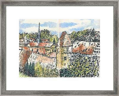 Kloster Maulbronn Framed Print