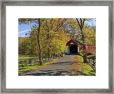 Knechts Covered Bridge Framed Print