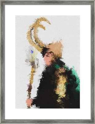 Kneel Master Framed Print by Miranda Sether