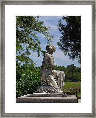 Kneeling Woman Framed Print