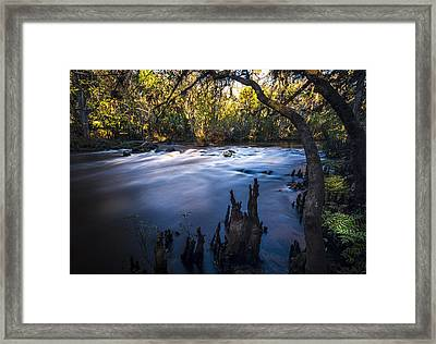 Knees In The Rapids Framed Print