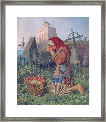 Knelt In Prayer Framed Print