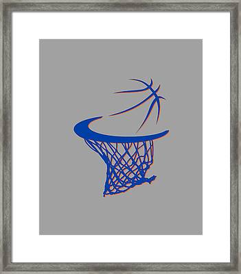 Knicks Basketball Hoop Framed Print