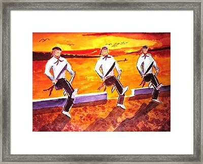 Knife Dancers Framed Print by Buster Dight