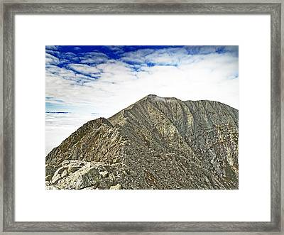 Knife Edge On Mount Katahdin Baxter State Park Maine Framed Print