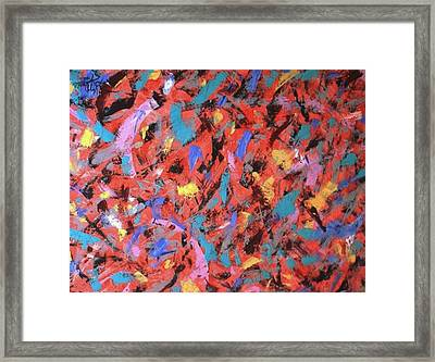 Knife Movements Framed Print by Guillermo Mason