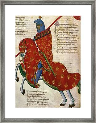 Knight, 14th Century Framed Print by Granger