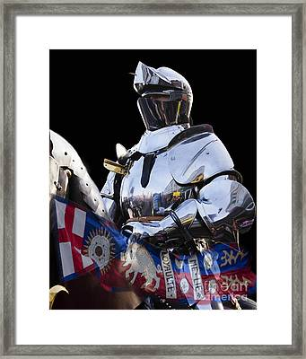 Knight And King Richards Standard  Framed Print by Linsey Williams