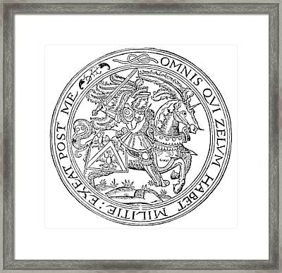 Knight: France, 1527 Framed Print by Granger