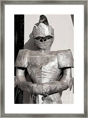 Knight In Shining Armour Framed Print by Diane Macdonald