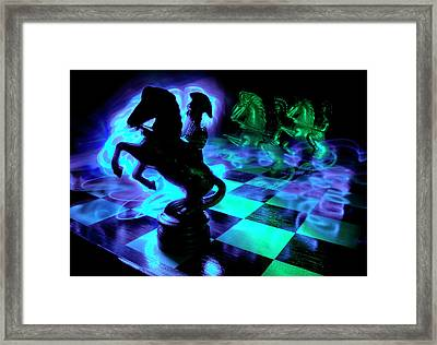 Knight Moves Framed Print by Barbara  White
