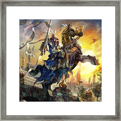 Knight Of New Benalia Framed Print by Ryan Barger