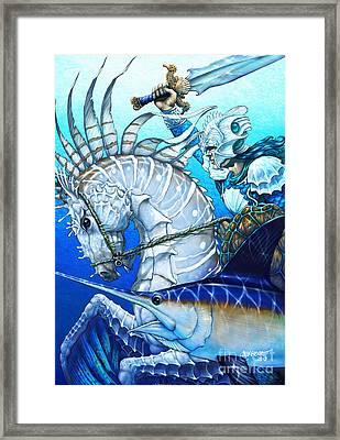 Framed Print featuring the digital art Knight Of Swords by Stanley Morrison