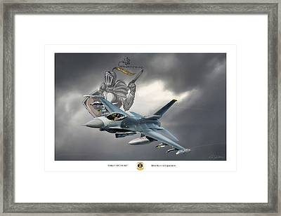Knight Of The Sky Framed Print by Peter Chilelli