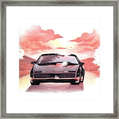 Knight Rider Framed Print by Gina Dsgn