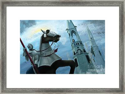 Knight Time Framed Print by Denise M Cassano