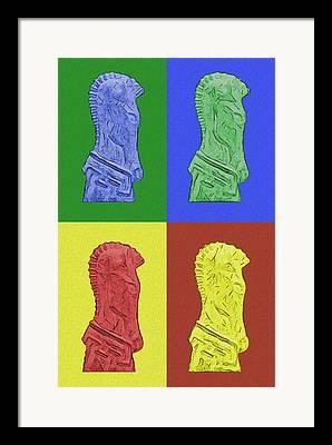 Game Piece Digital Art Framed Prints