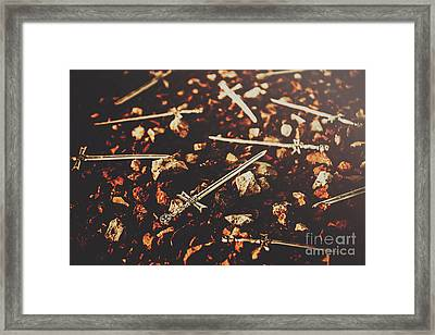 Knightly Fight Framed Print