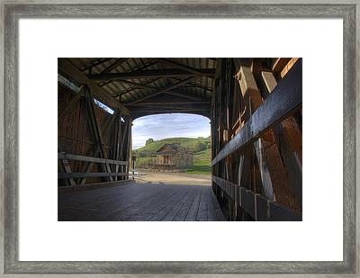 Knights Ferry Covered Bridge Framed Print