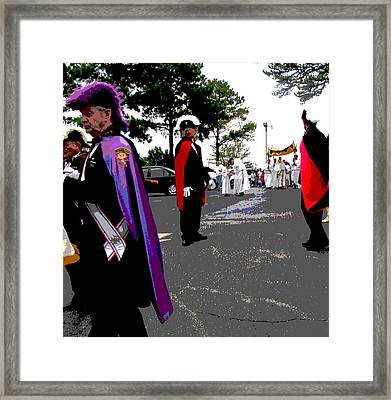 Knights In Regalia Framed Print
