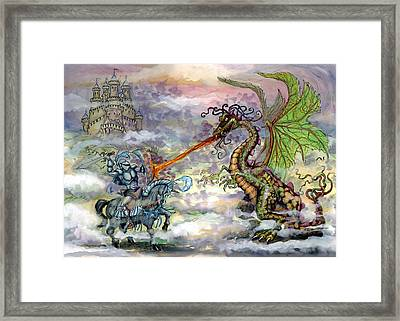 Knights N Dragons Framed Print