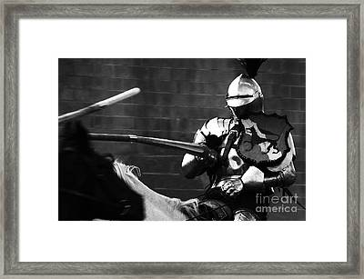 Knights Of Old 1 Framed Print by Bob Christopher