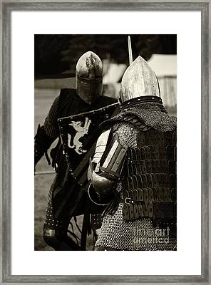 Knights Of Old 13 Framed Print by Bob Christopher